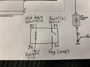 Diy  Fog Lights With High Beam Mod
