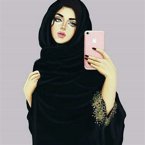 abaya dps woman drawing girly  islamic girl