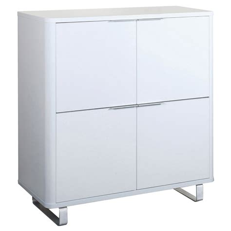 White High Gloss Cupboard by High Gloss Finish Storage Cupboard Cabinet Unit Black White