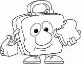 Lunch Coloring Lunchbox Drawing 為孩子�的�色頁 Getdrawings sketch template