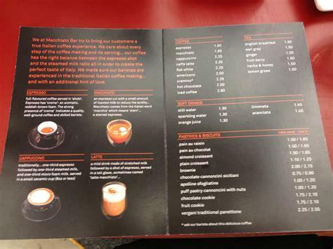 Wild rum & caramel coffee trauma mama; Coeur de chilli: Macchiato Bar- Tonino Lamborghini cafe ...