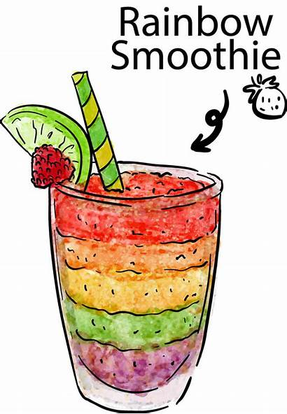 Clipart Juice Cold Transparent Rainbow Cocktail Webstockreview