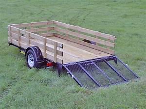 Single Axle Flatbed Utility Trailer