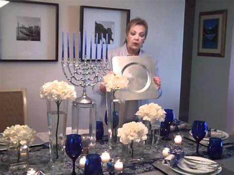 beautiful hanukkah table setting youtube