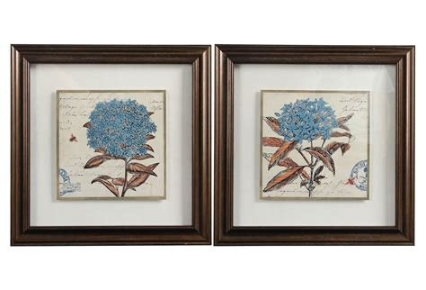 Check out our hydrangea wall art selection for the very best in unique or custom, handmade pieces from our wall hangings shops. Hydrangea Framed Art Set on OKL today | Framed art sets ...
