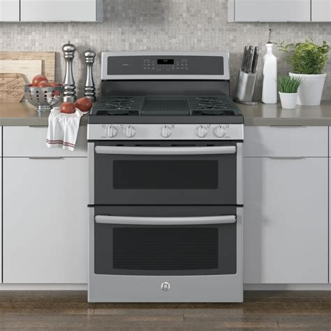 pgbsejss ge profile  freestanding double oven gas range convection stainless steel