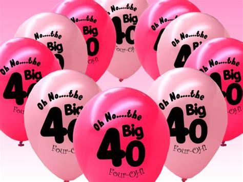 40th Birthday Decorations Ebay by 10 Fushcia Pink 40th Birthday 11 Quot Pearlised Balloons Ebay