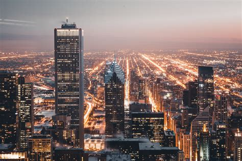 City Lights Buildings Free Stock Photo NegativeSpace