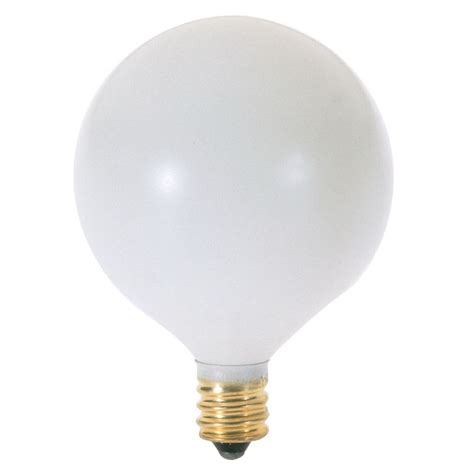 40 watt globe light bulb with candelabra base a3926