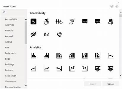 Office Icons Insert Microsoft Icon Library