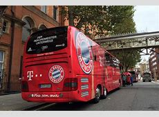 Bayern Munich's team bus crashes in London ahead of