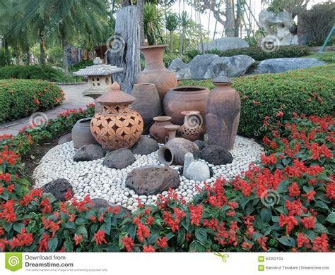 Garden Decoration Free clay pot garden decoration on white ground and