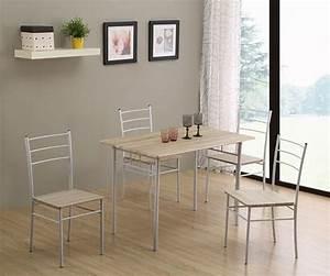 Table De Cuisine Grise : table 4 chaises daily chene grise blanc ~ Dode.kayakingforconservation.com Idées de Décoration