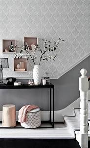 papier peint pour couloir comment faire le bon choix With couleur de peinture pour un couloir 2 une entree et un couloir contrastes home by marie