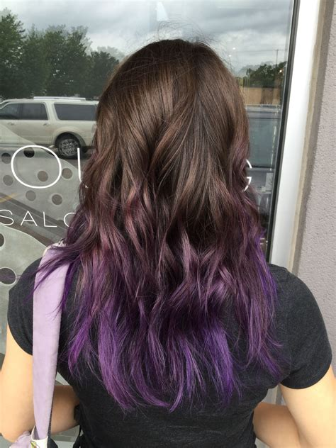 Color Tips For Brown Hair by Purple Balayage Hair Purple Hair Color Tips Purple Ombre