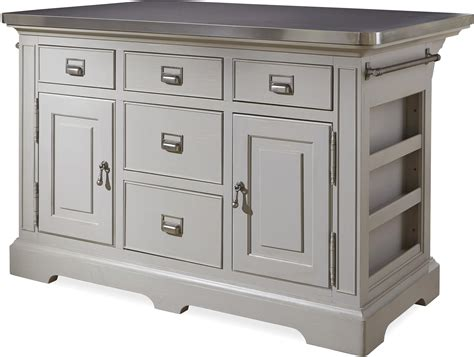 stainless top kitchen island the kitchen island with stainless wrapped metal top by