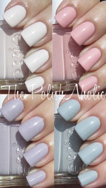 essie wedding  collection swatches nailed
