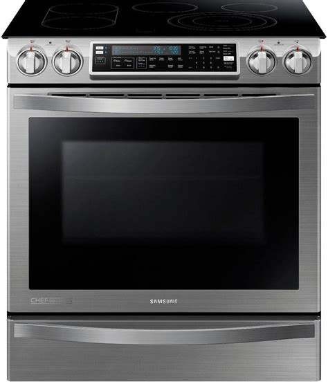 induction range slide oven samsung double convection electric stove stainless steel chef ranges duo inch flex gas self collection cleaning