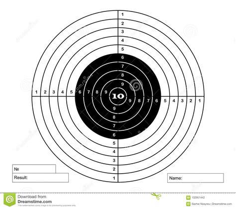 target  pneumatic shooting stock vector illustration  play achievement