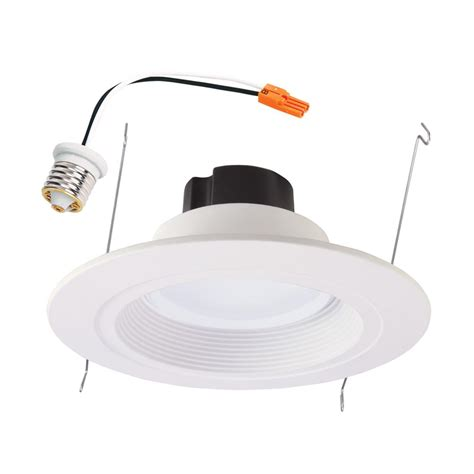 led recessed can light fixture halo rl 5 in and 6 in white integrated led recessed