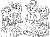 Coloring Thanksgiving Pages Preschool Feast Printable Crafts Worksheets Toddler Teachers Lots Students sketch template