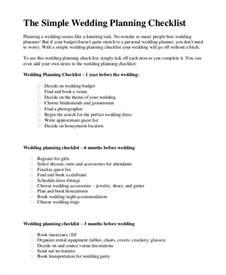 basic wedding checklist simple wedding checklist 20 free word pdf documents free premium templates
