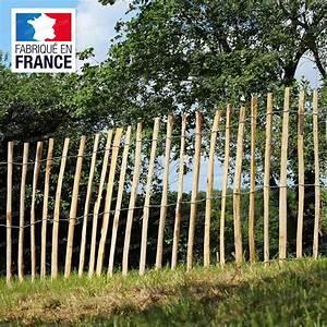 Piquet En Bois Pour Cloture : ganivelle cloture en ch taignier cloture et occultation ~ Farleysfitness.com Idées de Décoration