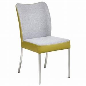 Stuhl Leder Grau : stuhl in metall textil leder grau gr n st hle esszimmer wohn esszimmer produkte ~ Indierocktalk.com Haus und Dekorationen