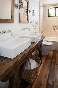 Waschtischplatte Holz Rustikal : waschtisch aus holz f r aufsatzwaschbecken bauen ~ Sanjose-hotels-ca.com Haus und Dekorationen