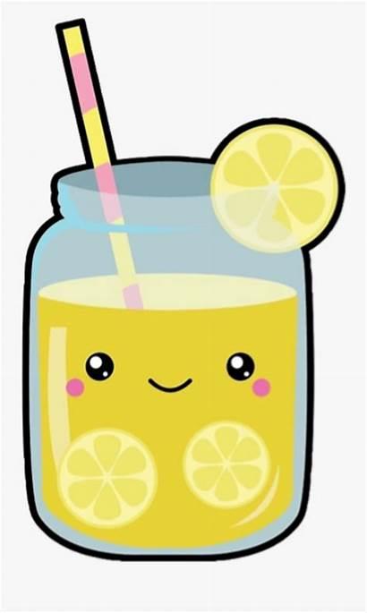 Clipart Kawaii Juice Lemon Lemonade Drink Faces