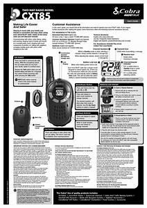 Cobra Microtalk Cxt85 User Manual Pdf Download