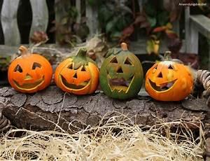 Halloween Deko Außen : kleine halloween ton k rbisse 4er set gruselige fratzen ~ Jslefanu.com Haus und Dekorationen