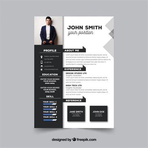 Moderner Lebenslauf Vorlage by Modern Resume Template Vector Free