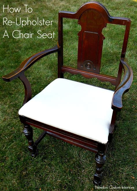 How To Upholster A Chair by How To Re Upholster A Chair Seat
