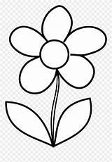 Flower Simple Bw Clipart Colouring Flowers Pinclipart Clip Malenki Jar Mason sketch template