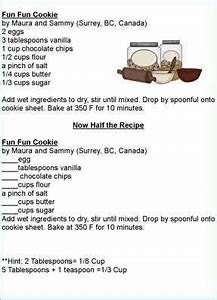 Doubling And Halving Recipes Worksheets Kids Cooking