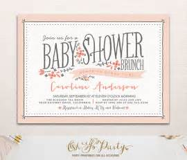 bridal shower brunch baby flora baby shower invitation floral baby shower by