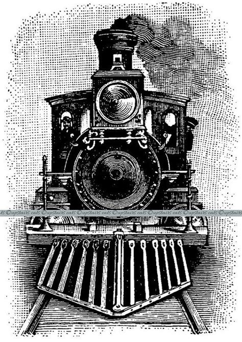 library  vintage steam train banner royalty  library