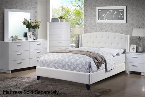 White Leather Queen Size Bed
