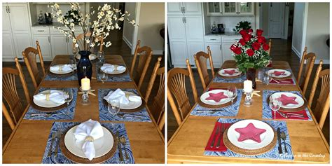kitchen table settings patriotic table setting in the kitchen calypso in the country