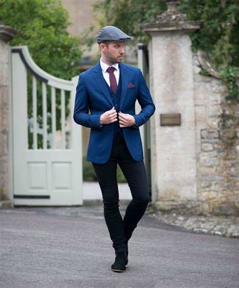 Blue Suit With Black Skinny Jeans Outfit   Your Average Guy