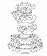 Coloring Tea Cafe Colorier Coloriage Elegant Dessin Printable Ou Adult Books Sheets Colouring Ausmalbilder Issuu Cup Birthday Imprimer Bebe Biberon sketch template