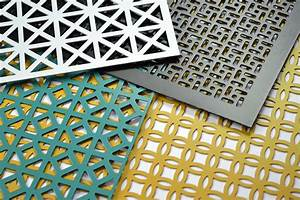 Decorative Perforated Sheet Metal With Patterned Openings