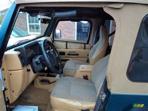 interior jeep wrangler tan interior 1997 jeep wrangler sport 4x4 photo 48188917