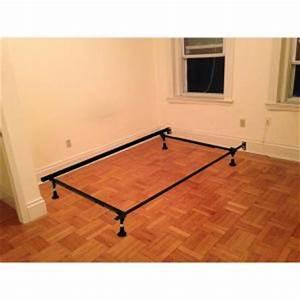 Hollywood bed frame adjustable metal bed frame 3150bsg i for Adjustable bed risers home depot