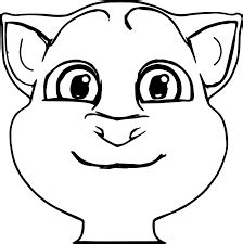 talking tom coloring pages  printable coloring pages