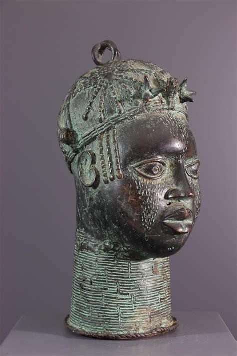 Tete Bronze (13781) - bronze africain Bénin - Art africain ...
