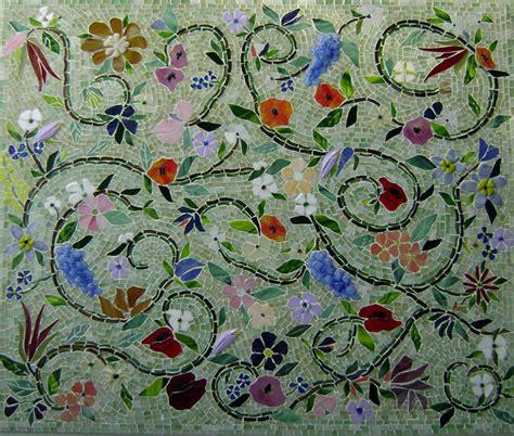 contemporary kitchen backsplashes glass mosaic floral mural designer glass mosaics