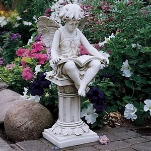 Fairy Garden Statue Angel Outdoor Home Yard Sculpture Lawn