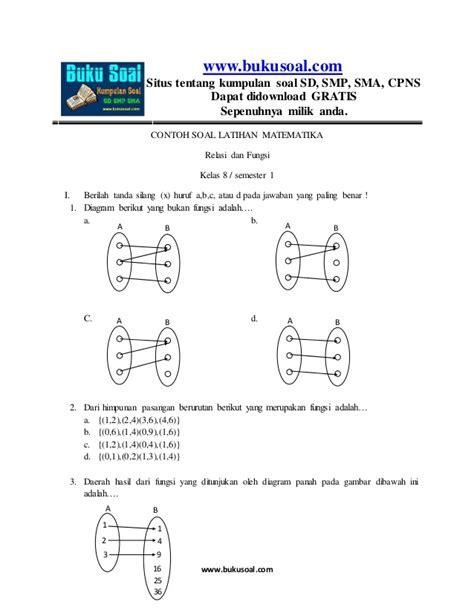 Kumpulan soal soal hots matematika smp m4th lab. contoh soal latihan matematika relasi dan fungsi kelas 8 smp